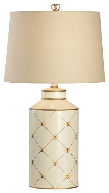 Chelsea House Queen Bee Light Wheat Shade Lamp 68675 ...