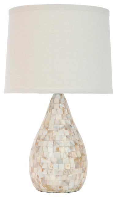Lauralie Ivory Capiz Shell Lamp.