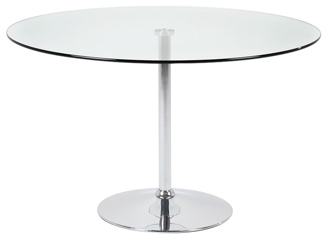 Becki Cafe Table, Clear Glass, 1 m