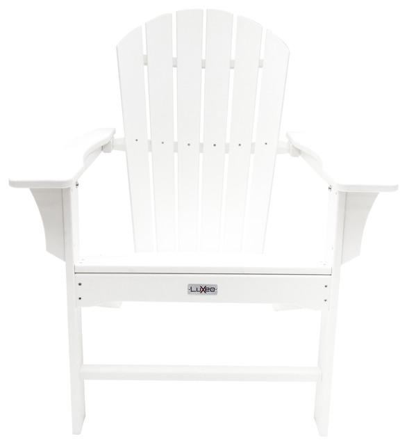 Hampton Outdoor Patio Adirondack Chair   Beach Style   Adirondack Chairs    By LuXeo USA