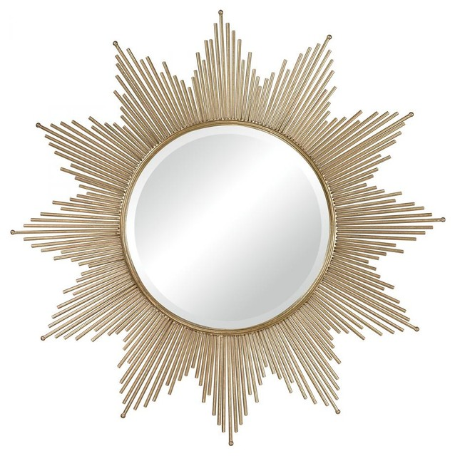 round starburst wall decor contemporary wall mirrors - Starburst Wall Decor