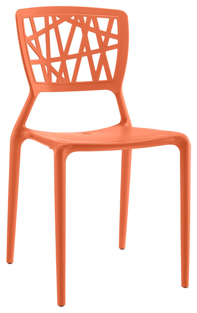 Astro Dining Side Chair, Orange