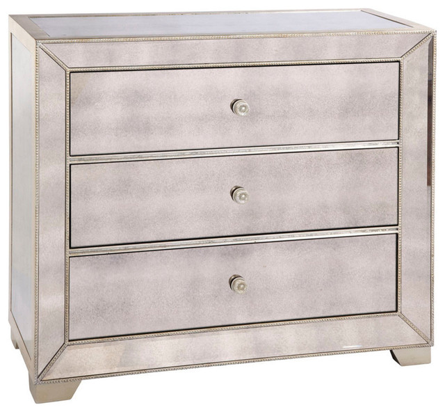 Bett Mirror Murano 3 Drawer Hall Chest In Antique Contemporary Dressers