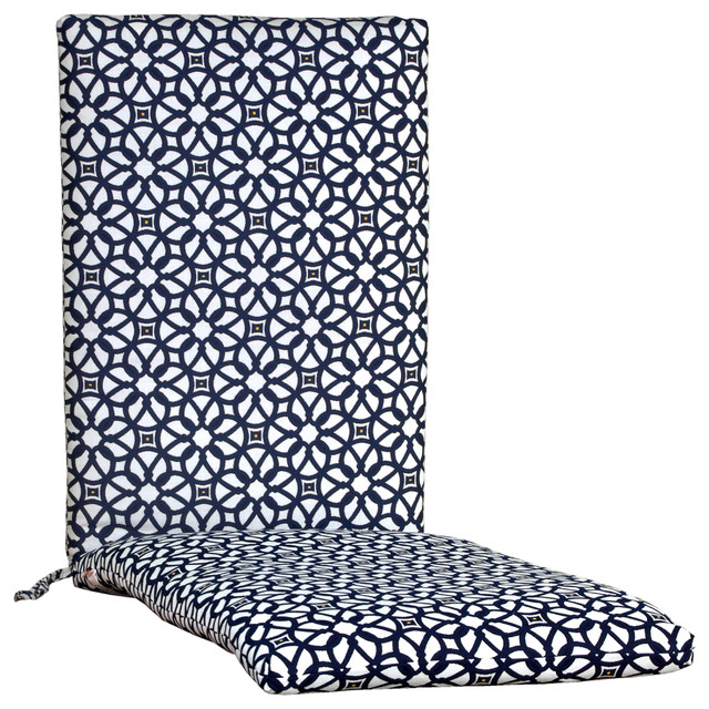 Outdoor Lounge Chair Cushions, Sunbrella Fabric, Luxe Indigo