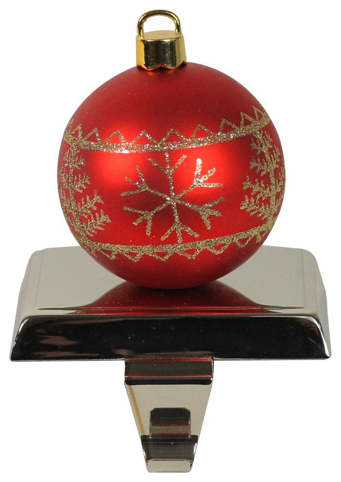 5 5 Red And Gold Christmas Ball Ornament Shaped Stocking Holder Christmas Stockings And Holders By Northlight Seasonal