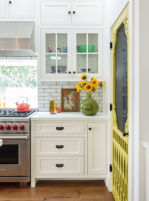 Black and White Farmhouse  Country  Kitchen  Los Angeles  by