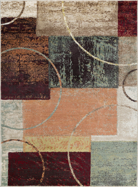 Conner Contemporary Abstract Area Rug