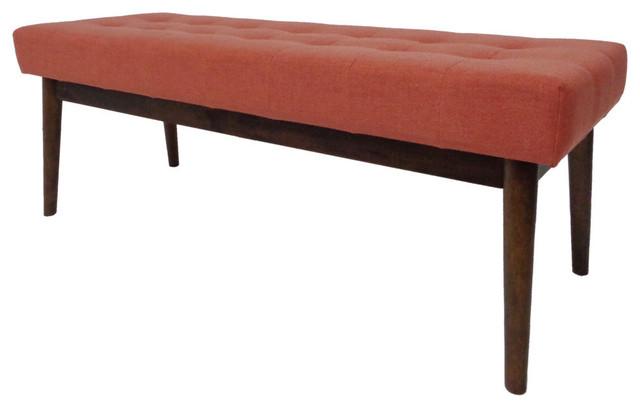 Fantastic Gdf Studio Flora Mid Century Tufted Fabric Ottoman Coral Beatyapartments Chair Design Images Beatyapartmentscom