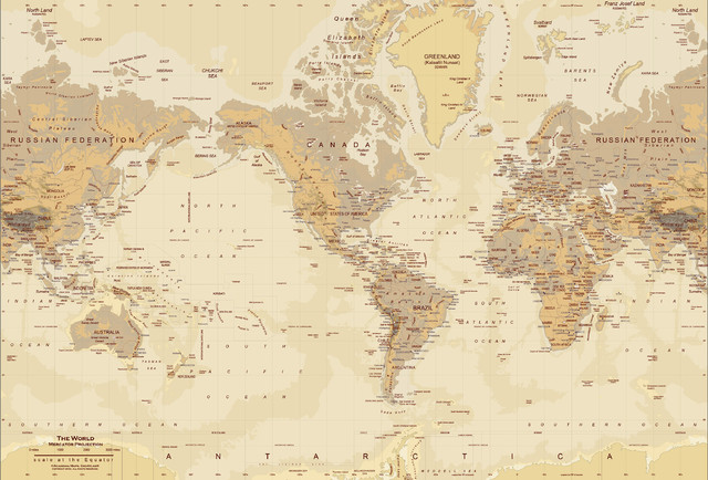 Tan world map wall mural peel stick modern wall decals by 1 tan world map wall mural peel and stick 1 panel 62 gumiabroncs Images