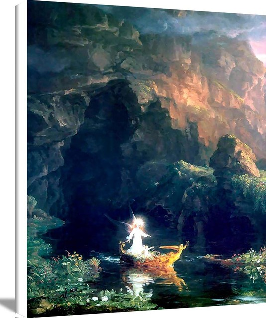 12a31fd1e2 The Voyage Of Life Childhood by Thomas Cole Oil Painting Reproduction,  15x20 - Traditional - Prints And Posters - by Beverly A Mitchell American  Art Gallery