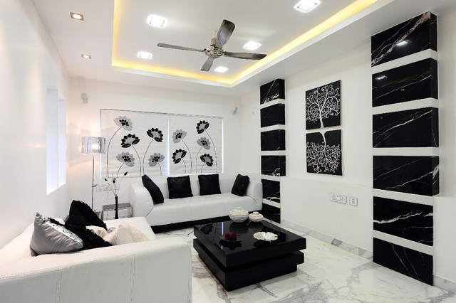 Tremendous Modern Apartment Contemporary Living Room Hyderabad Interior Design Ideas Clesiryabchikinfo
