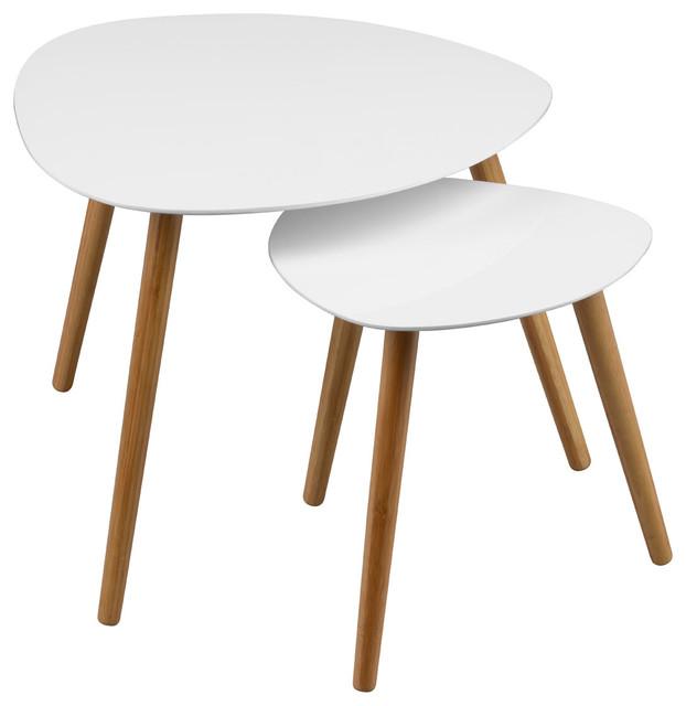 Superbe Nostra 2 Piece Triangular Nesting Table Set