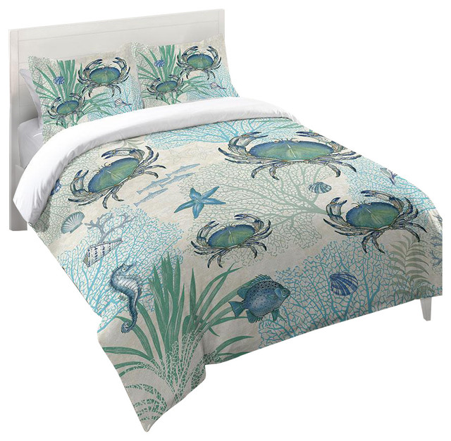 Nautical Bedroom Sets One Bedroom Apartment Design Images Of Bedroom Sets Tile Accent Wall Bedroom: Blue Crab Comforter