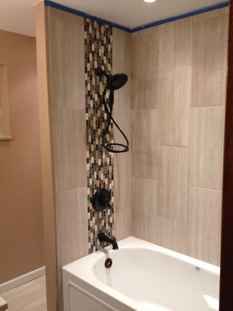 Rennovated Bathroom Modern Tile Denver