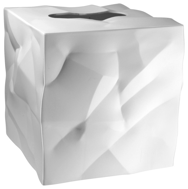 Essey Wipy Cube Tissue Box Holder White