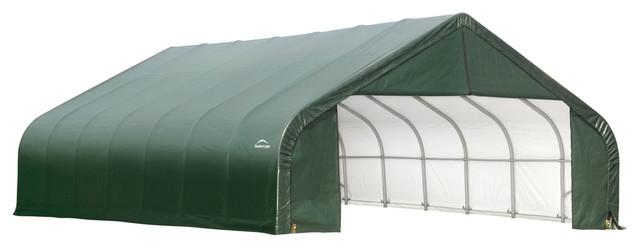 Shelter Logic Outdoor Sheltercoat Garage 28&x27;x24&x27;x20&x27;, Peak Standard, Green.
