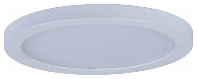 Wafer 7 15w 1-Led Flush Mount, White/white Glass.