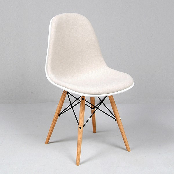 eames molded fiberglass side chair reproduction upholstered