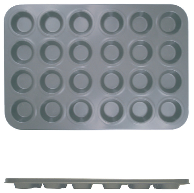 24 Cup Muffin Pan - Non Stick - Small Cup 0.4m/m, 1.5 Oz. Each Cup.