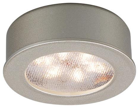 WAC Lighting LED Button Light, Brushed Nickel, Round, 3000k Soft White