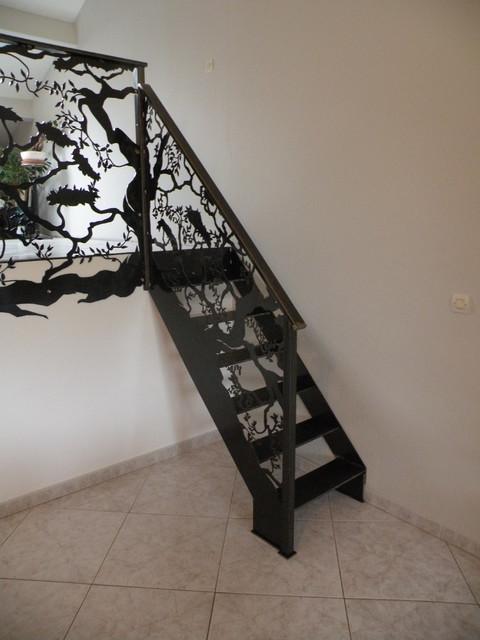 garde corps escalier asiatique escalier montpellier. Black Bedroom Furniture Sets. Home Design Ideas