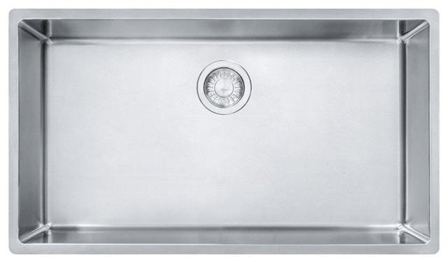 Franke CUX11030 Cube 31 1/2  Single Basin Undermount Stainless Steel 10007 Sink