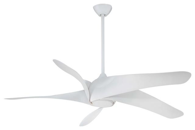 "Minka-Aire F905l-Wh Indoor Ceiling Fan 62"" White Artemis Xl5."