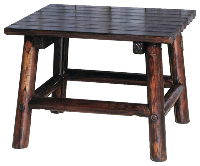 Digby End Table Rustic Outdoor Side Tables
