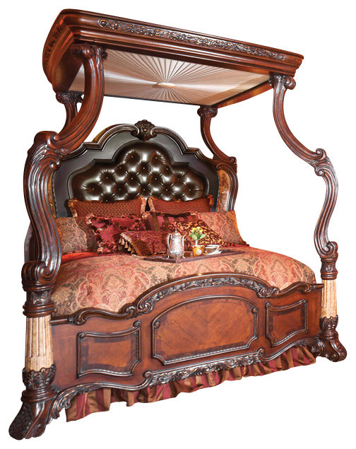 Victoria Palace 4 Piece California King Canopy Bedroom Set Victorian Canopy  Beds