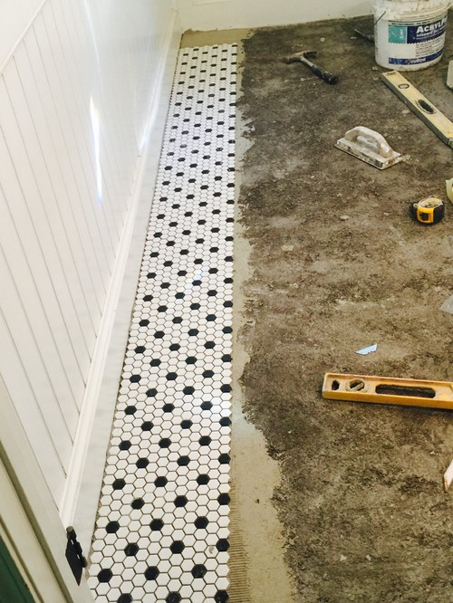 Hex Tile Floor What Shade For Grout