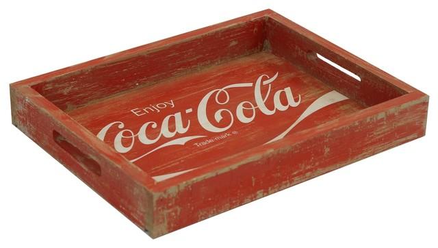 Vintage Inspired Coca-Cola Wooden Tray