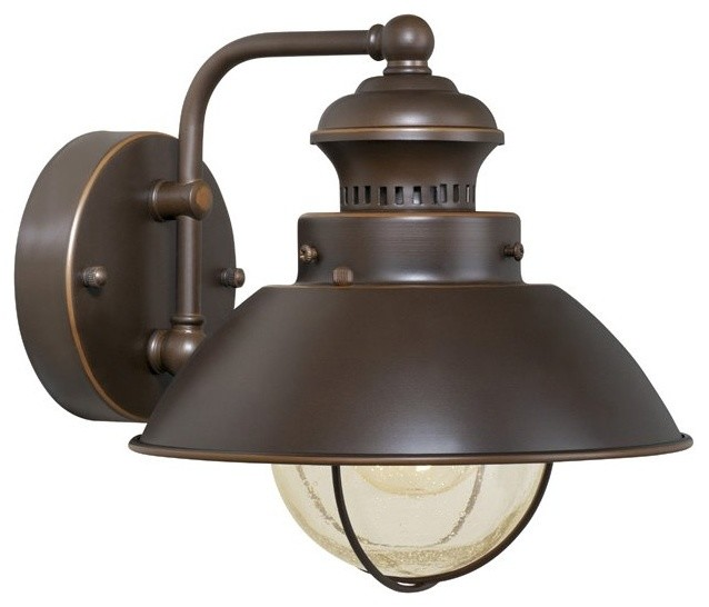 Outdoor Lighting For Beach House: Vaxcel Lighting OW21581BBZ Nautical Transitional Outdoor