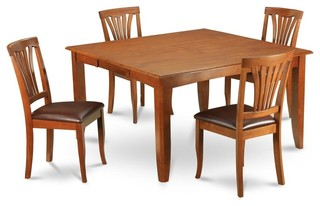 5-Piece Butterfly Leaf Dining Set