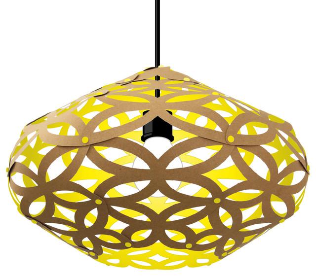 Craft Cardboard Lampshade, Yellow
