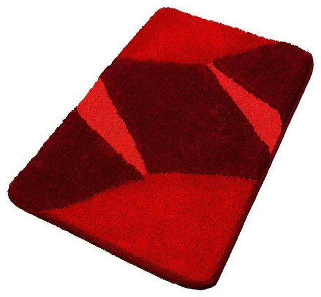 Bloombety Houzz Bathrooms With Floor Mat Houzz Bathrooms: Vita Futura Red Luxury Non Slip Washable Bathroom Rugs