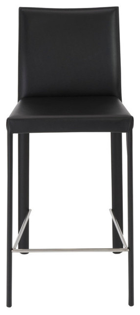 Swell Hasina C Counter Stools Black Stainless Steel Set Of 2 Ncnpc Chair Design For Home Ncnpcorg