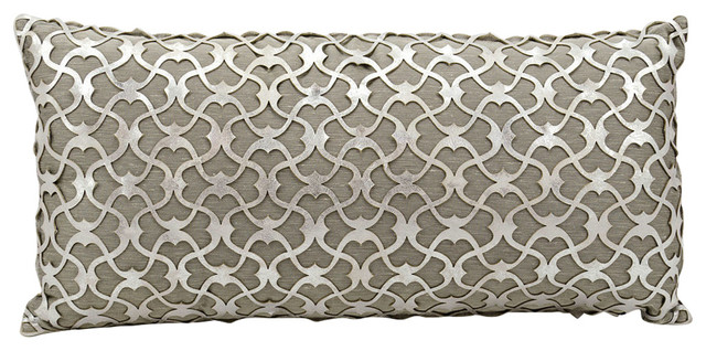 "ES016 Polyester Filler Pillow, Silver White, 18""x18"