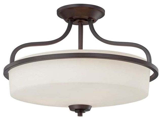 Savoy House Charlton Large Semi-Flush, English Bronze - 6-6224-3-13.
