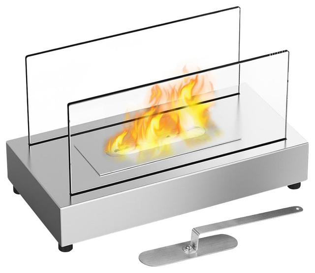 Moda Flame Vigo Table Top Indoor/Outdoor Ethanol Fireplace Stainless Steel