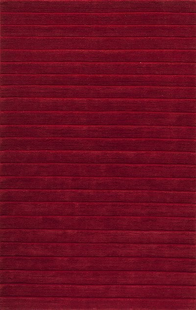 Metro Hand-Loomed Rug, Red, 2&x27;3x8&x27; Runner.