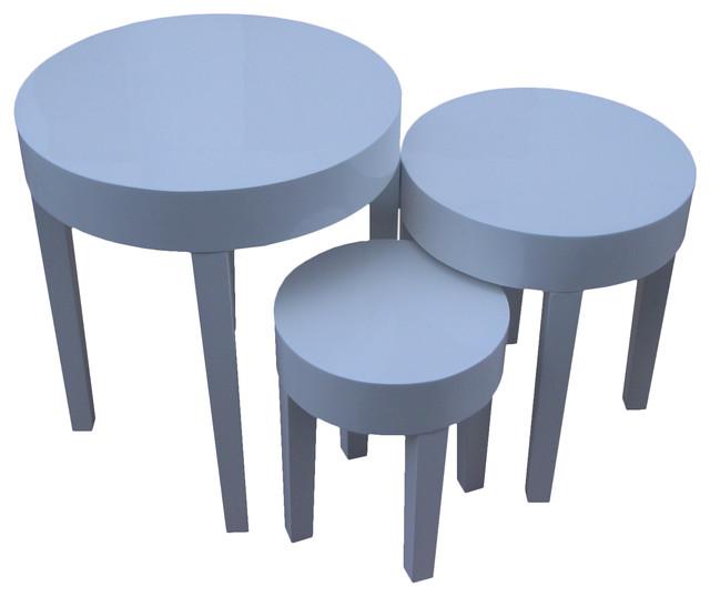Contemporary Round Nesting Tables