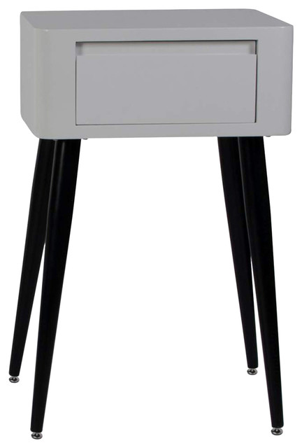 4d concepts simple side table in black white with tall for Tall white side table