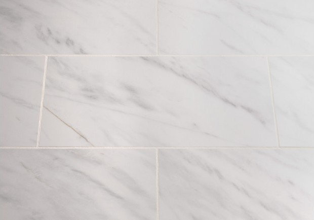 Carrara Polished Porcelain Floor Wall Tile White Grey 10 Piece