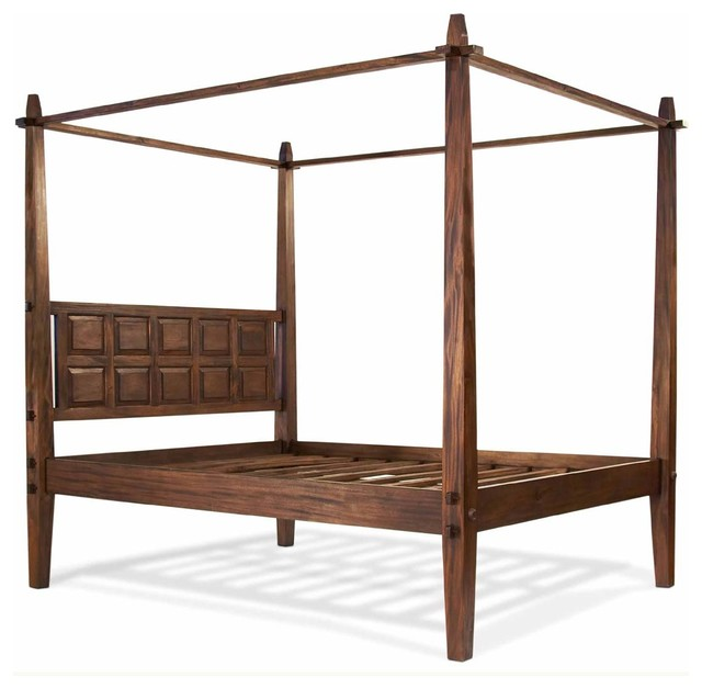 Tropical Full Size Mahogany Canopy Bed tropical-canopy-beds  sc 1 st  Houzz & Tansu - Tropical Mahogany Canopy Bed - View in Your Room! | Houzz