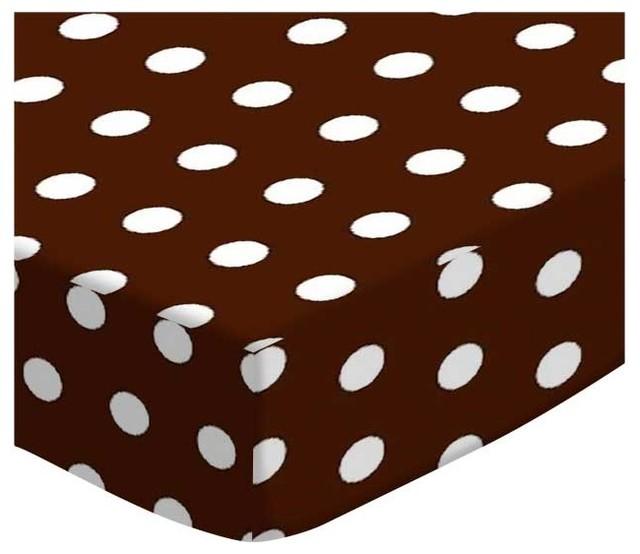 Sheetworld Ed Pack N Play Graco Sheet Polka Dots Brown Made In