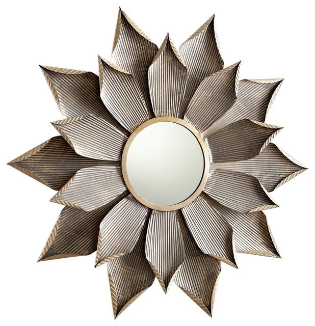 Large Blossom Starburst Wall Mirror.