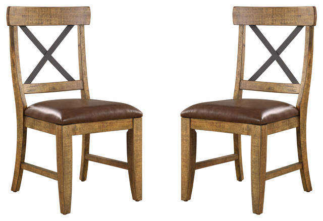 Emerald Home Chandler Side Chair, Set Of 2, Brown.