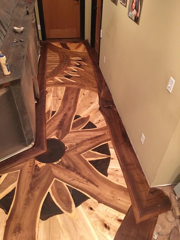 Custom Hallway Wood Flooring Designs
