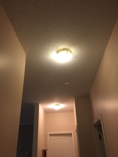 Track vs recessed our house has the original stock hallway lighting with the brassy base and clear globes ech would you swap out with track or recessed lights mozeypictures Gallery