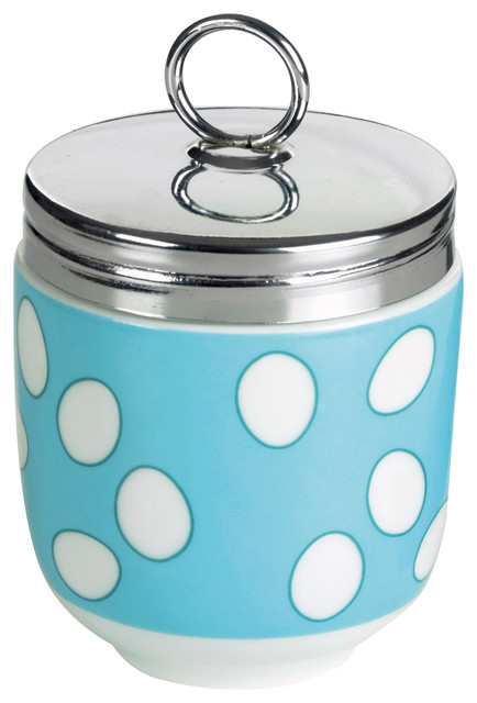 Bia Porcelain and Stainless Steel Egg Coddler, Blue